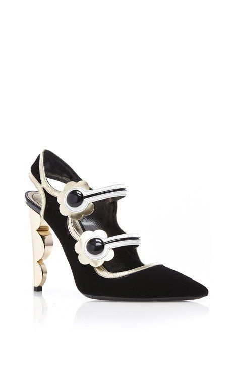 Polly Petal Wren Mary Jane Pump by Nicholas Kirkwood for Preorder on Moda Operandi
