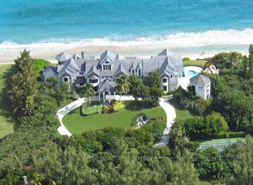 """A little over Seventeen Million Dollars will get you this oceanfront mansion in Manalapan Florida.  Click on pic to see all the """"over-the-top"""" amenities included."""