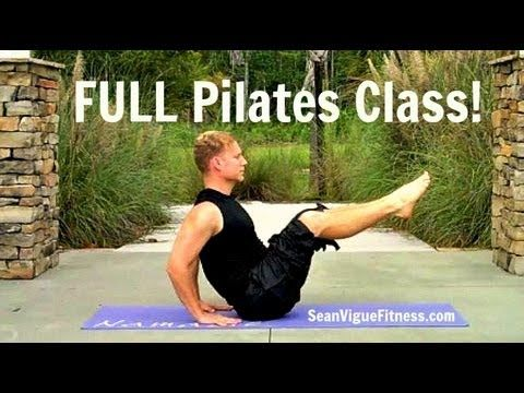 45 min Pilates Workout Video w/ Warm-Up & Cool Down from Sean Vigue Fitness - YouTube