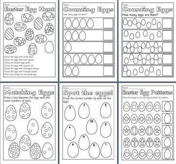 math worksheet : free printable easter teaching resources including easter  : Maths Worksheets Ks1
