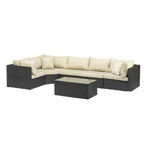 Sol 72 Outdoor Titcomb 5 Seater Rattan Sofa Set Corner Sofa With Cushions Corner Sofa Set Sofa Set