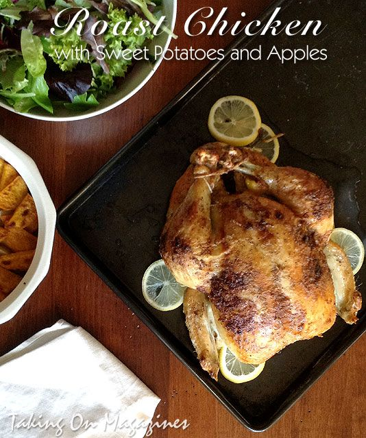 Roast Chicken with Sweet Potatoes and Apples from Southern ...