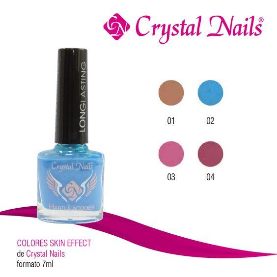 #Colores #SkinEffect de #CrystalNails