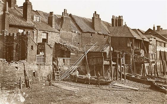 Another Lambeth picture, this time of the Thames foreshore where many people found work as labourers or sailors, shortly before the building of the Albert Embankment in 1866-9. It is part of a collection of images by William Strudwick, which are among the only surviving mid 19th-century images of a London working class district.