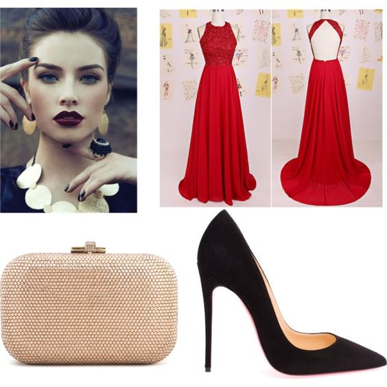 Untitled #35 by laurynt199 on Polyvore featuring polyvore fashion style Christian Louboutin Judith Leiber