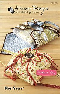 Hot Stuff Casserole Covers Sewing Pattern Atkinson Designs #ATK-163