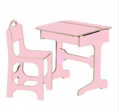 Saplings Roze bureau en stoel vanaf 3 jaar €85