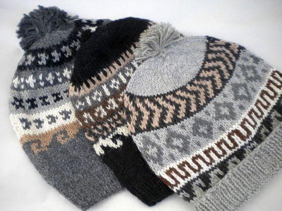 Color Knit Alpaca Hat