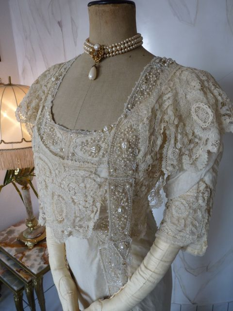 Exquisite Belle Epoque Wedding Gown Antique Dress Antique Gown Bridal Gown