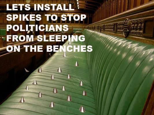 spikes for politicians