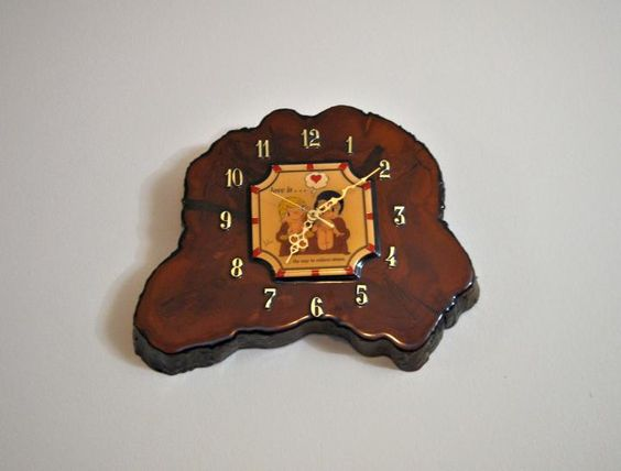 The Vintage Village - View Classified - Tree Trunk 1970s Battery Operated Wall Clock