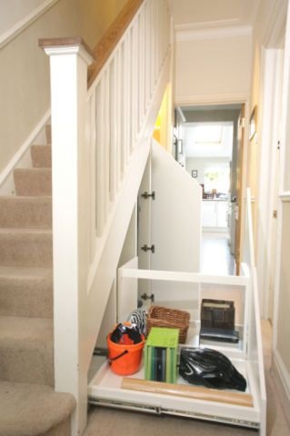 Office Nook Bespoke And Storage Under Stairs On Pinterest