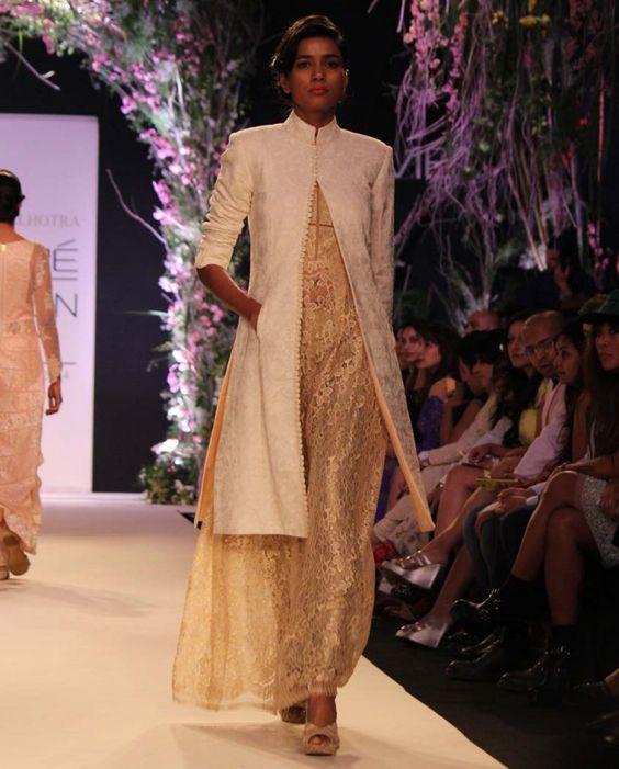 Offwhite Textured Jacket- Buy Summer Affair '14 Online   manishmalhotra.in