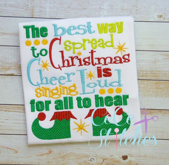 Spread Christmas Cheer Embroidery Design by sapphiremommy on Etsy
