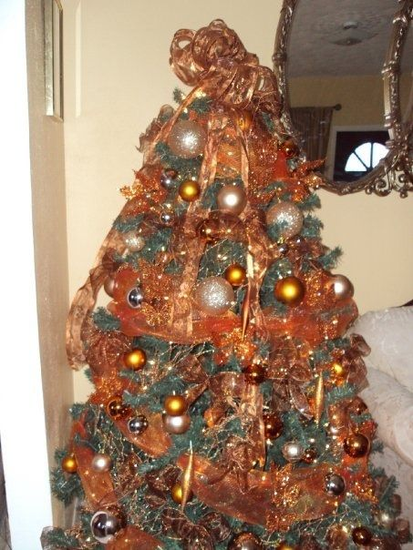 Orange And Lemon Christmas Tree Decorations : Burnt orange and trees on