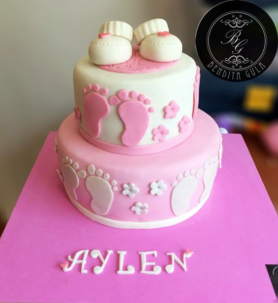 Torta zapatitos baby shower
