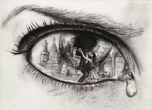 Me encantan los ojos, en especial los dibujados. Creo que dibujar un ojo es la forma más pura de expresar lo que sientes.