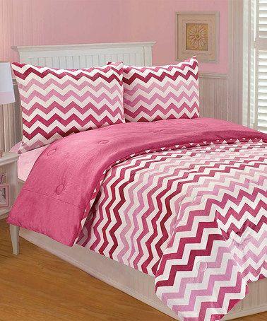 Thro Pink Ombr 233 Chevron Comforter Set Kid Bedding And Shops