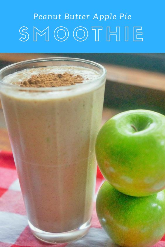 Peanut Butter Apple Pie Protein Smoothie | Receta