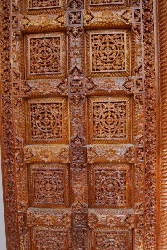 Jain temple carved wooden door oshwal centre uk