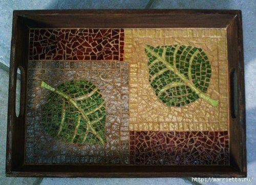 Mosaico na bandejas.  Master class e idéias maravilhosas (17) (500x361, 129Kb)