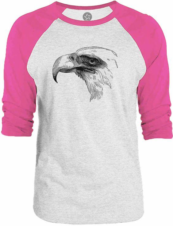Big Texas Vintage Bald Eagle 3/4-Sleeve Raglan Baseball T-Shirt