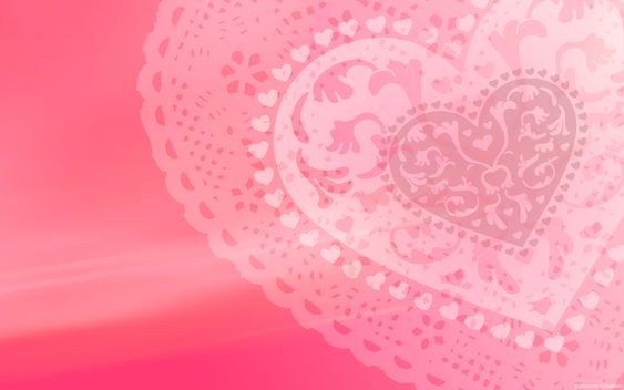 pink lace hheart wallpaper