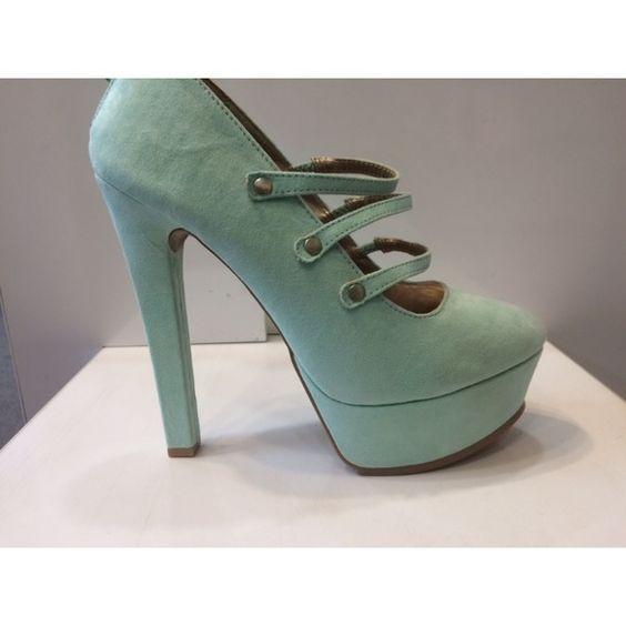 Qupid 'Pia-02' Platforms- Menthol suede Gorgeous suede platforms NIB! item # 370 Shoes Platforms
