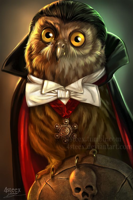 Owloween 2016 - Count Dracuowl by 4steex.deviantart.com on @DeviantArt