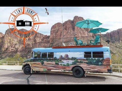 The Ultimate Diy Adventure Bus Tiny House Built With Materials From Craigslist Youtube Tiny House Diy House