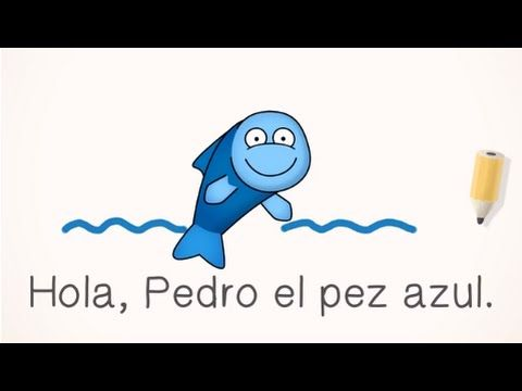 FREE Spanish Lesson - Pedro el pez (Programs for Schools, Families, and Homeschools) - YouTube