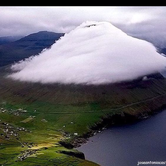 Cloud-wrapped mountain