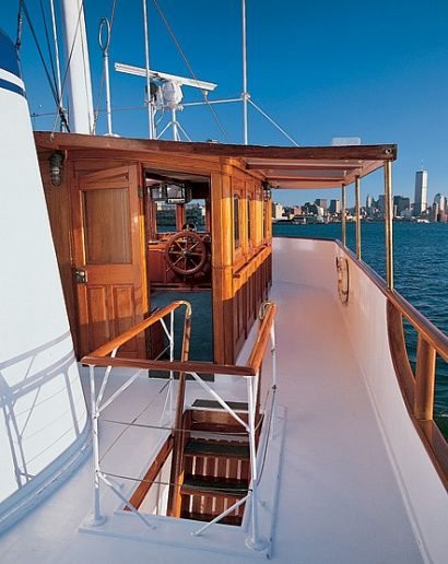 Sean Kennedy's motor yacht, the Mariner III - Kevin and I got engaged on this yacht!