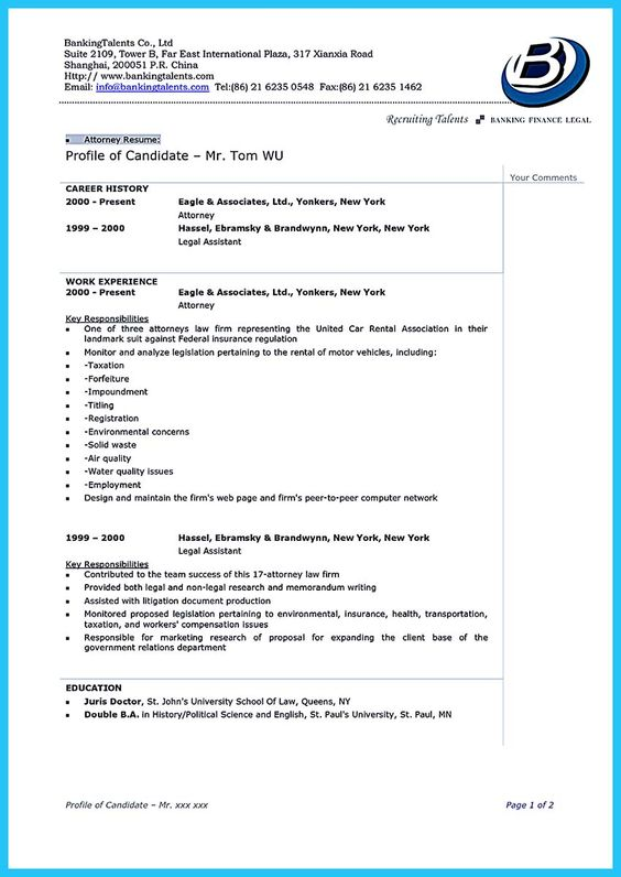 As you are confused on how to arrange an attorney resume sample - attorney resume format