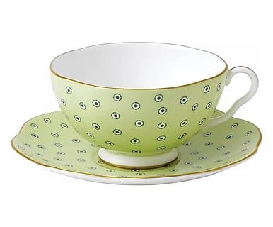 Fine Bone China-Teetasse Polka Dot Tea Story mit Untertasse, 180 ml