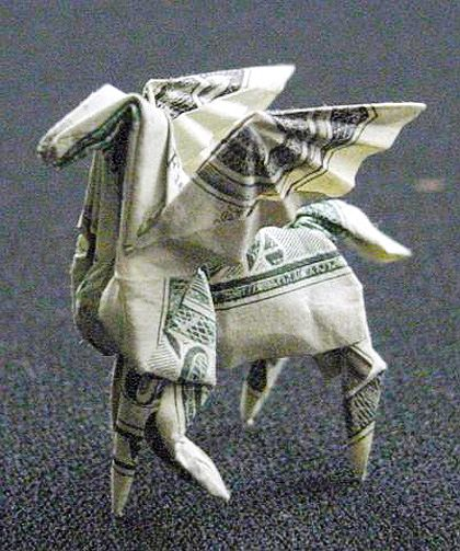 Dollar Bill Origami: