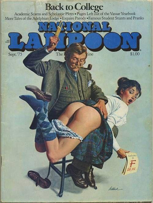 National Lampoon, September 1975: National Lampoon, Bad Girl, Pin Up Girl, Erotic Illustration, Erotic Spanking, Lampoon Magazine, Pinup, Cover Art