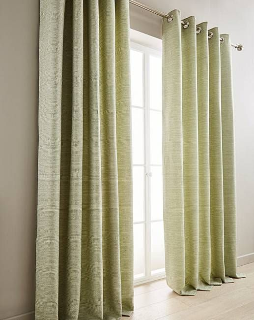Mila Boucle Lined Eyelet Curtains J D Williams Curtains Fabric Window Treatments Green Curtains
