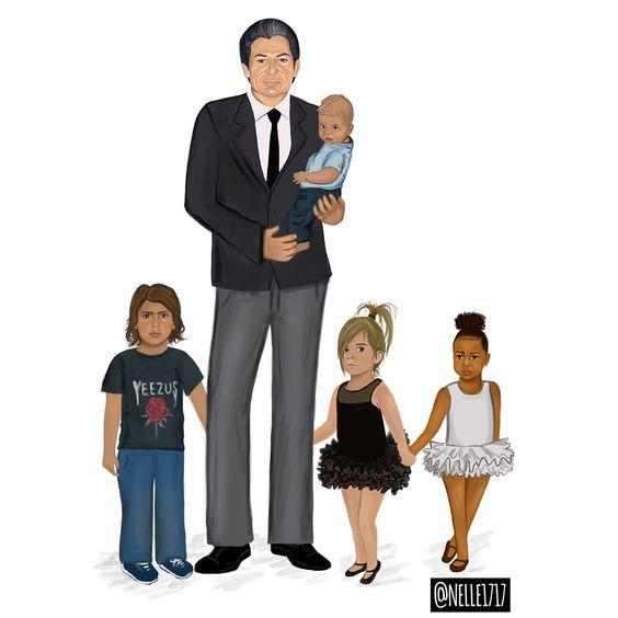 Robert-Kardashian-mason-disick-reign-disick-penelope-disick-north-west-nelle
