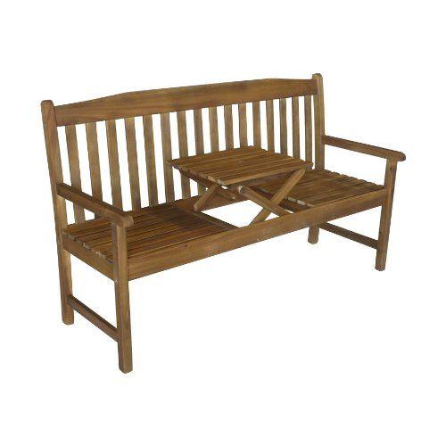 Amazon De Gartenbank Colombo 3 Sitzer Mit Ausklappbarem Tisch Sitzbank Holzbank Parkbank Bank Holz Holzbank Garten Ausklappbarer Tisch Gartenbank