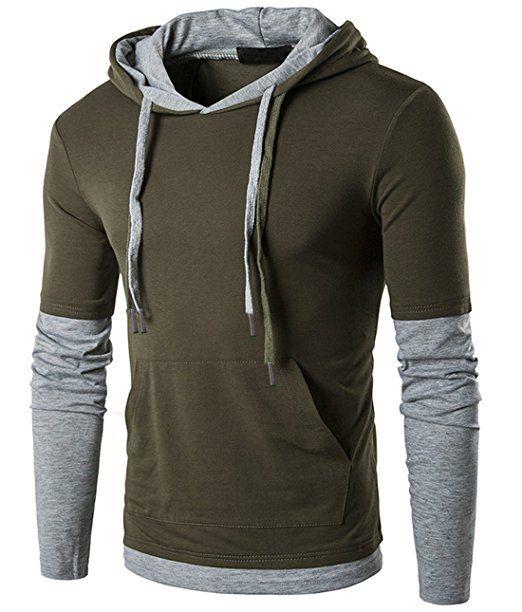 Generic Mens Camouflage Zipper Slim Fit Hip Hop Hipster Sweatshirt Hoodie