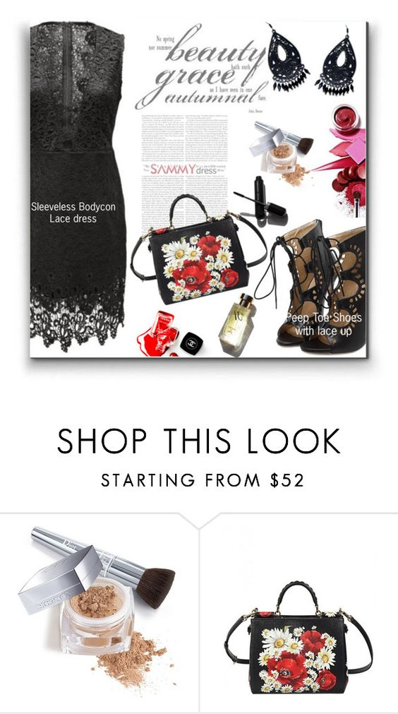 """""""Untitled #758"""" by wannanna ❤ liked on Polyvore featuring Chanel, Garance Doré, Christian Dior and Dolce&Gabbana"""