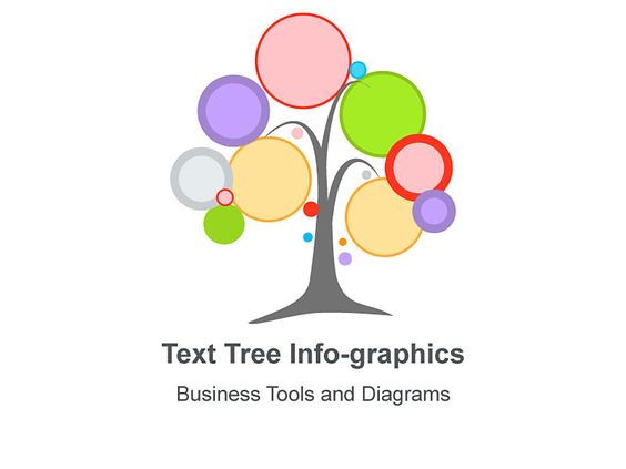 Text Tree Infographics - Editable in Mac Keynote Slides This text ...
