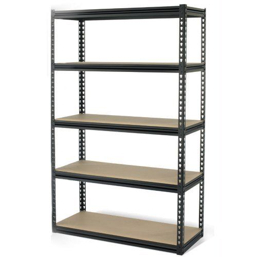 Gorilla Racking - 5 Shelf Package - 72 x 48 x 24 by The Storage Store. $146.99. Corrosion resistant powder coat finish. Double rivet construction. Tough steel components. Adjustable particle board shelves. For heavy duty storage, this 5 Shelf Package by Gorilla Rack is the perfect unit. The commercial storage rack features 5 adjustable shelves so you can customize the amount of room between shelves for items of various heights. All steel construction, the rack ha...