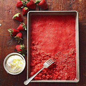 Strawberry Granita Granitas are intensely fruit-flavored ices. Served ...