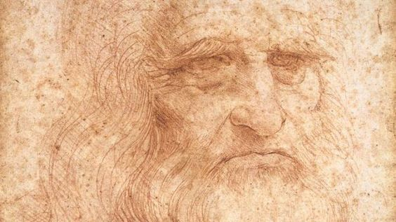 """Da Vincis """"Selbstporträt"""" von 1512; Selfportrait dated 1512"""