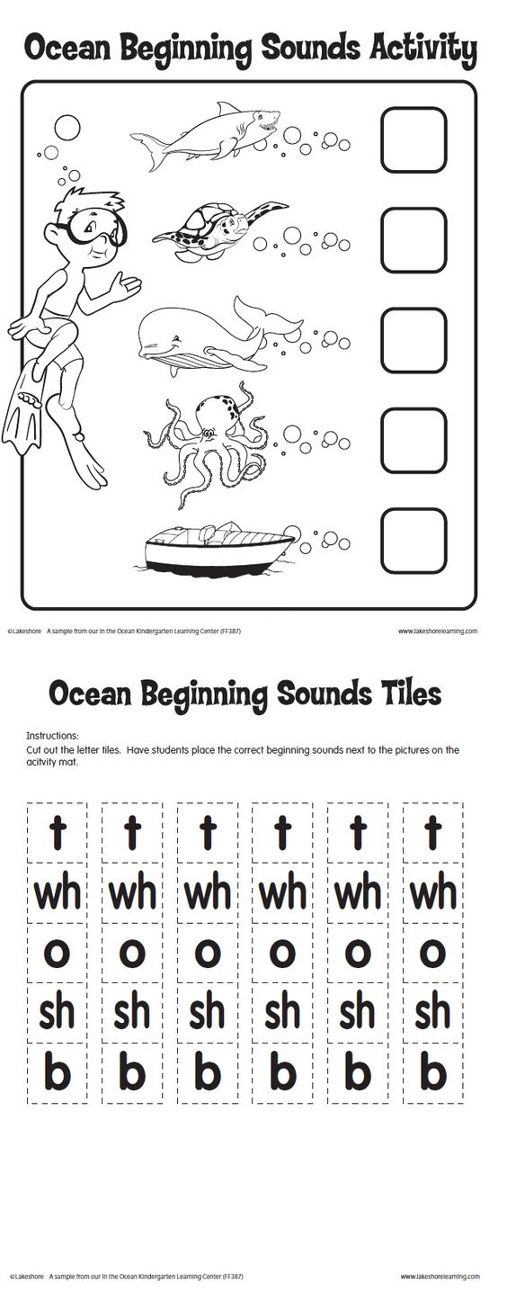 Worksheet Beginning Sounds Activities activities student centered resources and language on pinterest ocean beginning sounds activity printable from lakeshore learning kindergarten