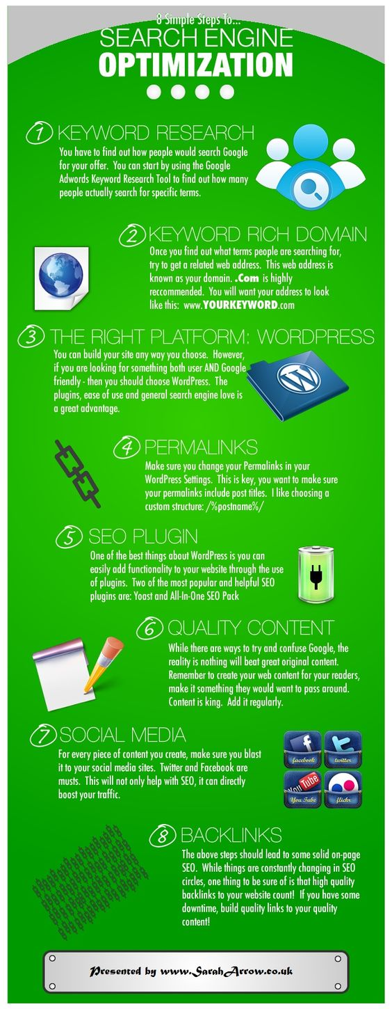 8 simple steps to search engine optimization