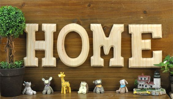 zakka DIY wooden wall hangings decorative wall hangings letters retro cafe bar decorated children's aids - Taobao