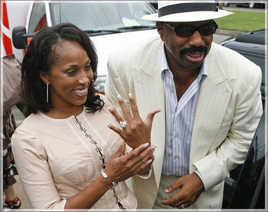 Steve Harvey Young Wife Comedian Steve Harvey was spotted on the